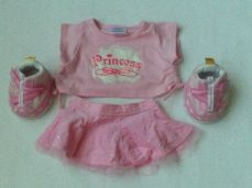 Adorable Build-a-Bear 'Princess' 4-Piece Bear Outfit